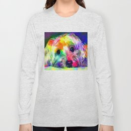 Colorful Yorkie By Annie Zeno  Long Sleeve T-shirt