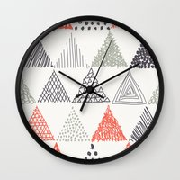 triangle Wall Clocks featuring Triangle by samedia