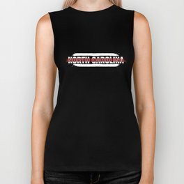 North Carolina Firefighter Gift for Texas Firemen and Firefighters Thin Red Line Biker Tank
