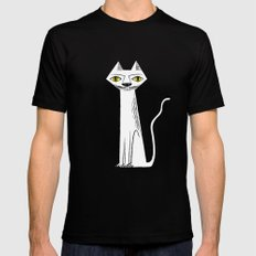 The Cat's Whiskers MEDIUM Black Mens Fitted Tee