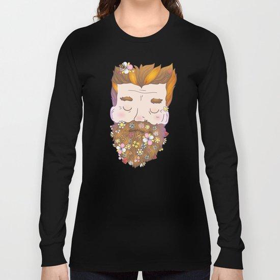Flower beard Long Sleeve T-shirt