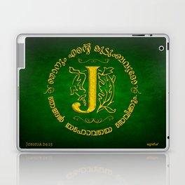 Joshua 24:15 - (Gold on Green) Monogram J Laptop & iPad Skin