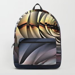 Island Sunset on Abstract Rose Backpack