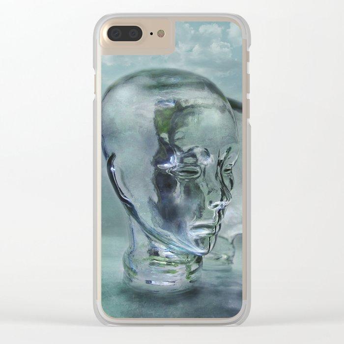 Glasmensch im Internet Clear iPhone Case