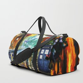 Starry Tardis Night Duffle Bag