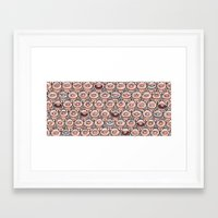 pigs Framed Art Prints featuring pigs by Frednoens