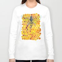 honeycomb Long Sleeve T-shirts featuring Bee & Honeycomb by Cat Coquillette