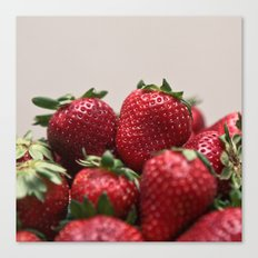 Stacked Strawberries  Canvas Print