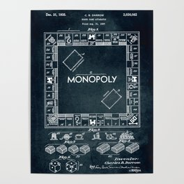 1935 - Board game apparatus (Monopoly) Poster