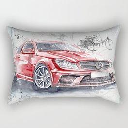 Red Beauty - Benz Rectangular Pillow