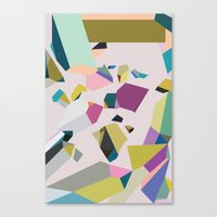 crystals Canvas Prints featuring Crystals by Leandro Pita