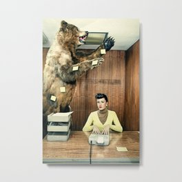 Post it funny Bear Metal Print