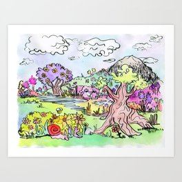 That's a Wise Tree Art Print