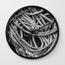 Coiled Rope Wall Clock