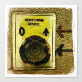 centering device Canvas Print