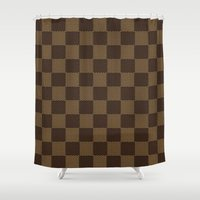 lv Shower Curtains featuring LV pattern style by aleha