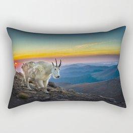Mt. Evans mountains goat Rectangular Pillow
