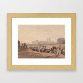 Ile de la Cite by Richard Parkes Bonington. Framed Art Print