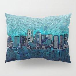 boston city skyline Pillow Sham