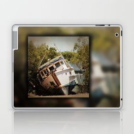 Grounded boat in need of some care Laptop & iPad Skin
