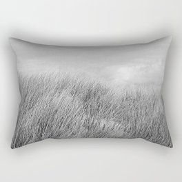 Beach grass - black and white Rectangular Pillow