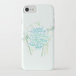 Be Strong and Courageous - Joshua 1:9 - bamboo iPhone Case