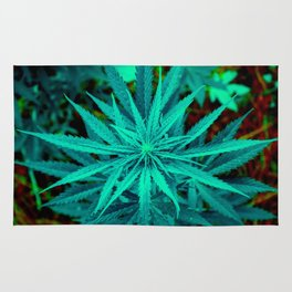 Twisted Frosty Weed Rug