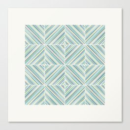 Herringbone Diamonds - Sky Canvas Print