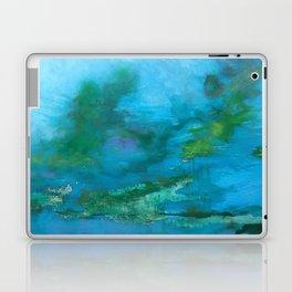 Light Blue Monet´s Theme of Waterlilies Laptop & iPad Skin
