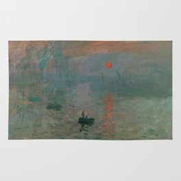 Claude Monet - Impression, Sunrise Rug