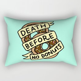 Death Before No Donuts Rectangular Pillow