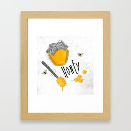 Elements coal Framed Art Print