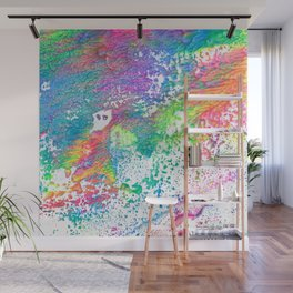Rainbow Paint Splatter V2 Wall Mural