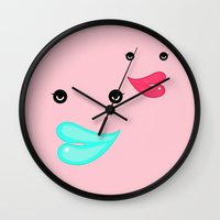 lips Wall Clocks featuring LIPS by RUEI