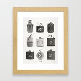Flask Collection – Black Palette Framed Art Print