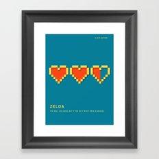 8 BITS BETTER - ZELDA Framed Art Print
