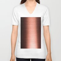 copper V-neck T-shirts featuring Copper by Robin Curtiss