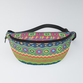 African abstract geometric pattern Fanny Pack