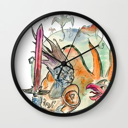 3872 cliff racers Wall Clock