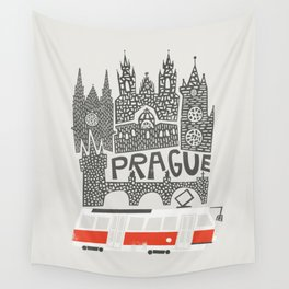 Prague Cityscape Wall Tapestry