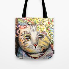 Smokey ... abstract cat art Tote Bag