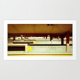 Platform A Art Print
