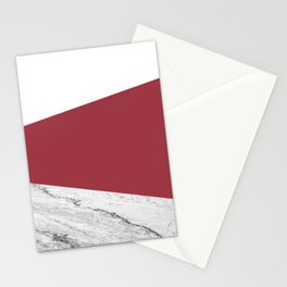 Marble Jester Red Geometry Stationery Cards