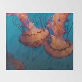 Jellyfish (Water) Throw Blanket