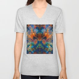 Swims with Fishes Unisex V-Neck