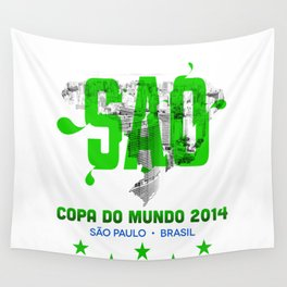 Rep Your City / Word Cup: Sao Paulo Wall Tapestry