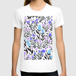 wild flowers hand draw floral pattern T-shirt