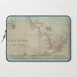 Antique Florida Keys Map Laptop Sleeve