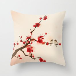 Oriental plum blossom in spring 007 Throw Pillow