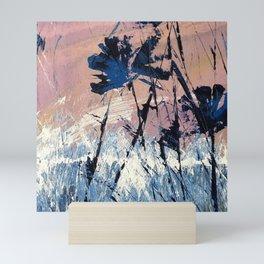 Abstract Flowers Blue Purple Field Lavender Landscape by Jodi Tomer Mini Art Print